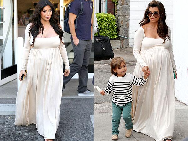 Kim Kardashian Kourtney Rachel Pally Cream Dress