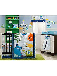 Monsters University 4 Piece Crib Bedding Set
