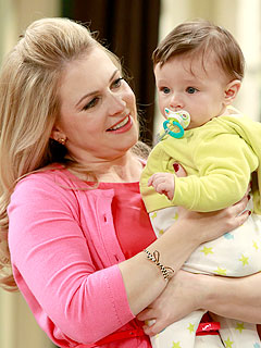 Melissa Joan Hart and Son Tucker On Set of Melissa & Joey