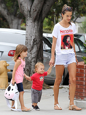 Alessandra Ambrsio Moms Amp Babies Celebrity Babies And