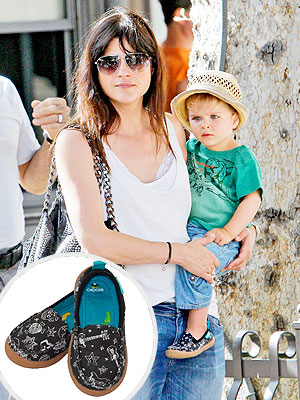 Selma Blair Arthur Bleick Chooze Scout in Rockout Print Slip-On Shoes