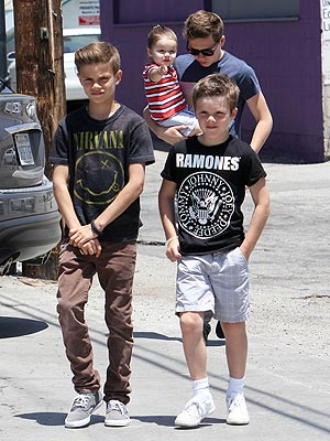 Romeo and Cruz Beckham Rocker Tees