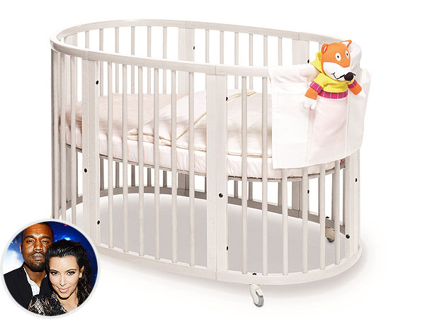 Kim Kardashian North Kanye West Kris Jenner Stokke Sleepi Crib