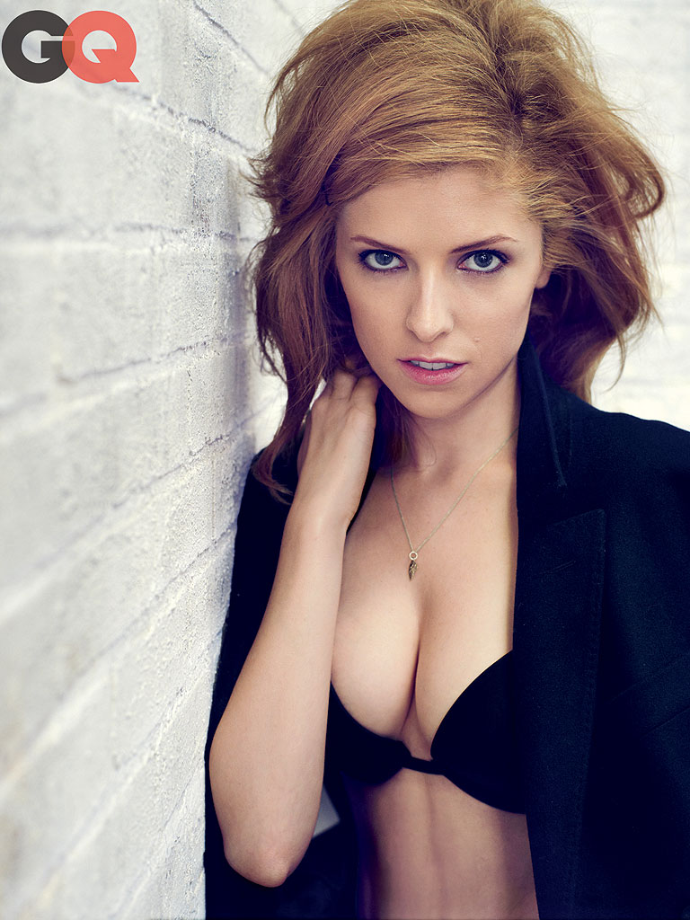 Anna Kendrick Strips Down to a Bra for GQ  Anna Kendrick George Clooney  Peoplecom