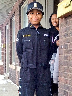 Detroit Boy with Cancer Becomes Police Chief for a Day