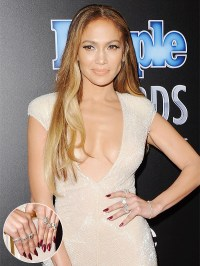 The gallery for --> Jennifer Lopez Nails 2014