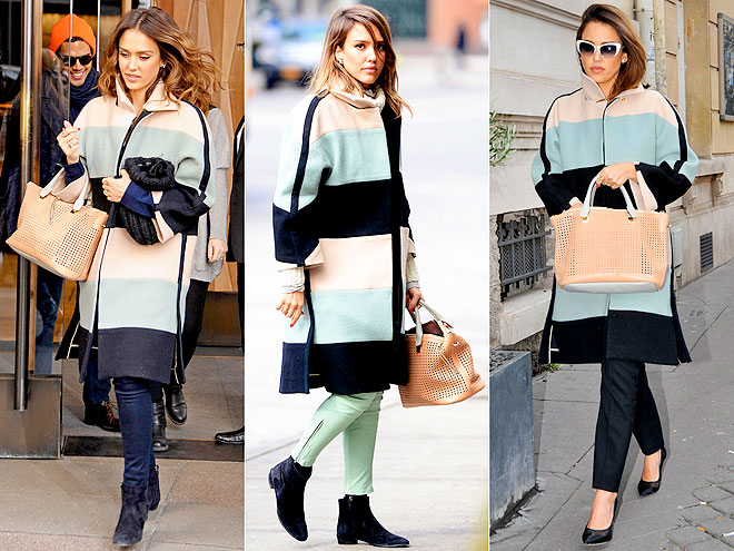 CHLOÉ COAT  photo | Jessica Alba