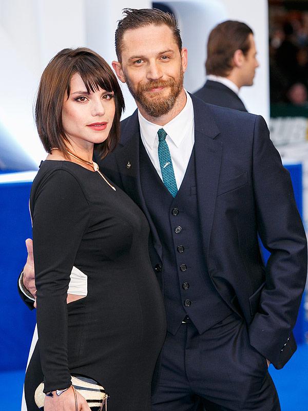 Tom Hardy wife Charlotte Riley pregnant Legend premiere
