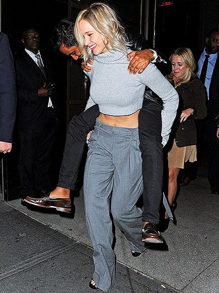 Jennifer Lawrence And Aziz Ansari Valentines Day Date In