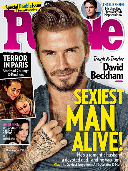 David Beckham Is PEOPLE's Sexiest Man Alive!| Sexiest Man Alive, Sexiest Man Alive, Sexiest Man Alive Ad Tag, David Beckham