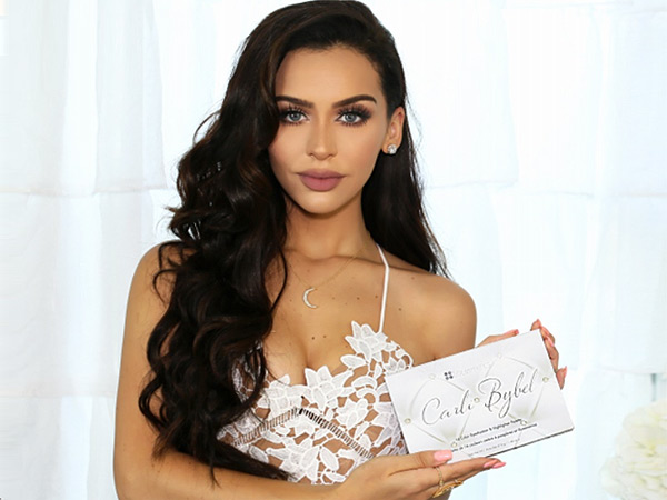 Carli Bybel creates eyeshadow palette