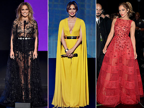 Jennifer Lopez AMAs outfits