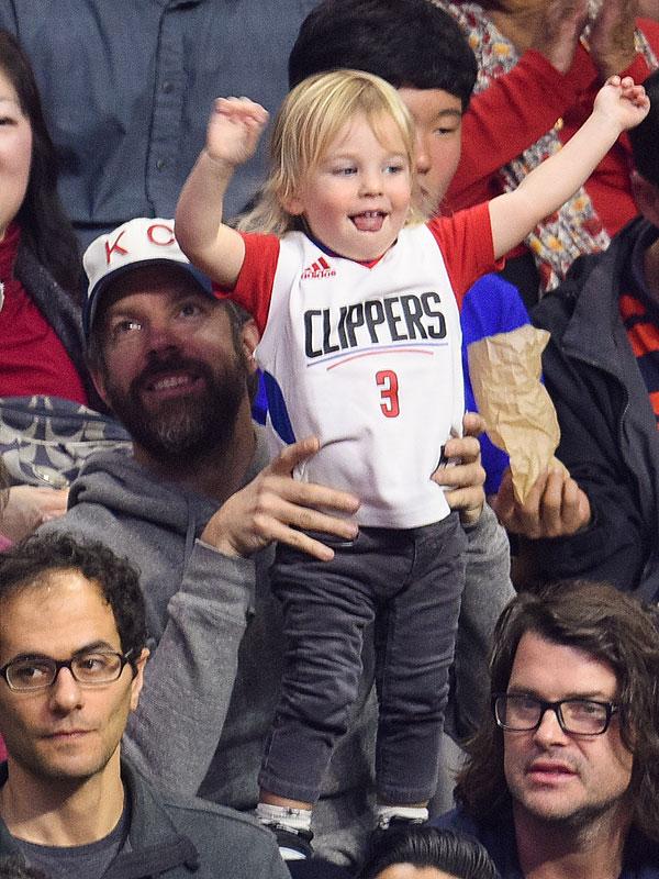 Jason Sudeikis Son Otis Is The Cutest Clippers Fan Photo