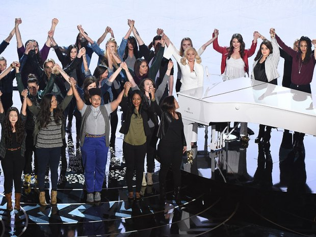 Lady Gaga's Family Discovered She Was Raped After Oscars Performance: 'I Never Told Them I Was a Survivor'| Sexual Assault/Rape, Oscars 2016, Lady Gaga