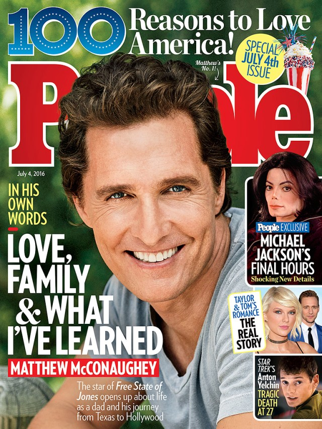 Matthew McConaughey Reveals Which of His Female Costars He Really Had a Crush On Growing Up| Movie News, People's List, Jess Cagle, Matthew McConaughey, Sarah Jessica Parker