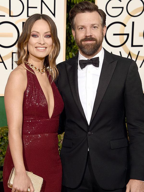 Golden Globes 2016 Olivia Wilde Jason Sudeikis