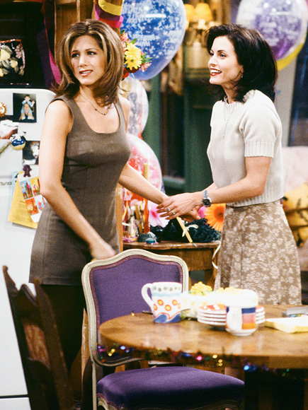 Rachel trails Ross to the airport to tell him she fell in love with him in the show's season 1 finale. Nine seasons later, in the