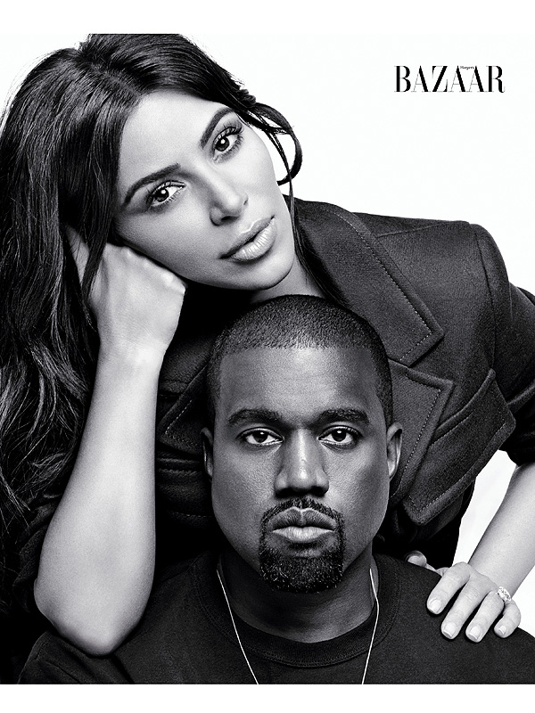 Kim and Kanye West on Harper's Bazaar September 2016 cover