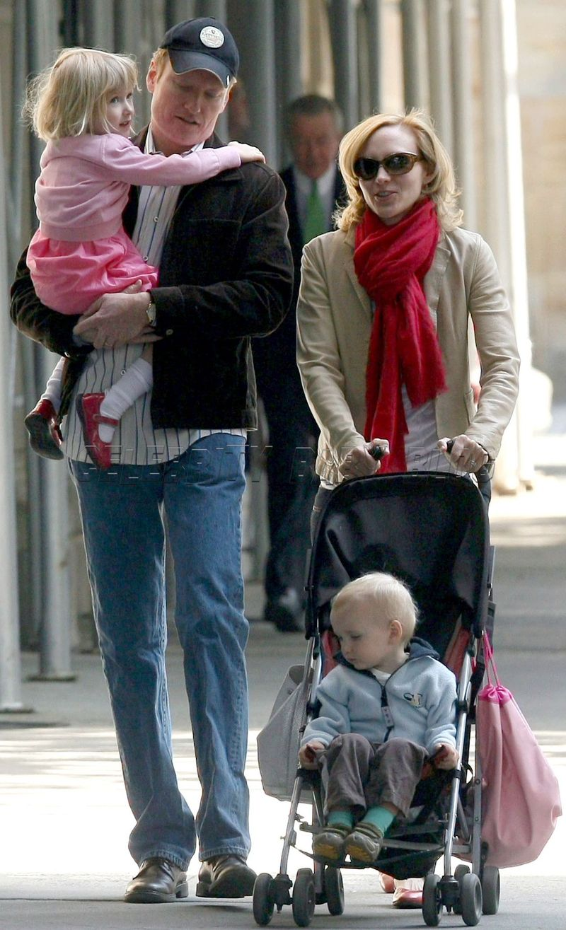 Conan OBrien and family out in NYC  Moms  Babies