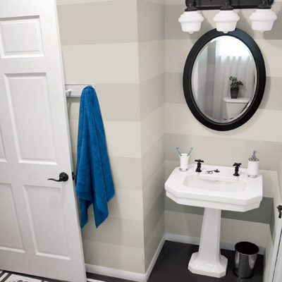 Low Cost Bathroom Remodel, via This Old House
