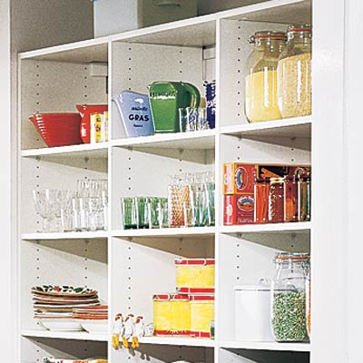 sunny nook pantry with easy access shelves