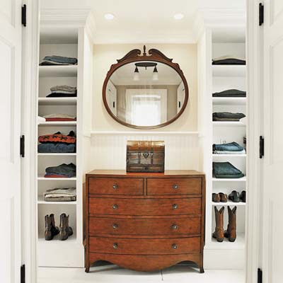 dressing-room shelving