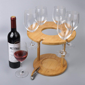 wine glass drying rack and bottle