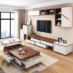 import white mdf living room furniture