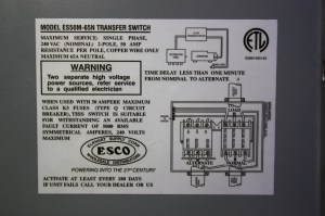 RV Components USED RV POWER 50 TRANSFER AUTOMATIC TRANSFER SWITCH ES50M65N FOR SALE Automatic