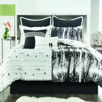 Victoria Classics Woodland Comforter Set in Black & White ...