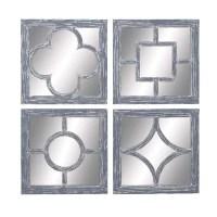 Woodland Imports 4 Piece Wall Mirror Set & Reviews | Wayfair