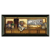 Timeless Frames Country Kitchen Shelf Graphic Art by Mary ...