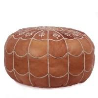 Ikram Design Moroccan Leather Pouf Ottoman II & Reviews ...