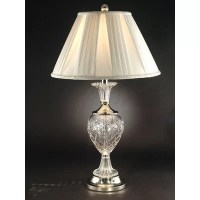 "Dale Tiffany Yorktown Crystal 29"" H Table Lamp with Empire ..."