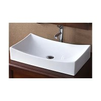 Ronbow Rectangle Ceramic Vessel Bathroom Sink in White ...