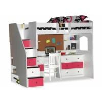 Utica Twin Dorm Loft Bed with Desk and Storage | Wayfair