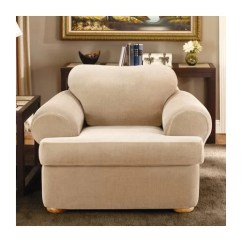 Club Chair Slipcovers T Cushion Gym Ball South Africa Sure Fit Stretch Stripe Two Piece T-cushion Slipcover & Reviews | Wayfair
