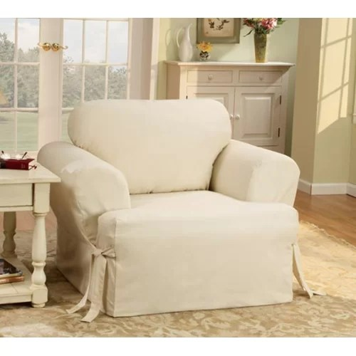 Sure Fit Cotton Duck TCushion Slipcover for Chair in
