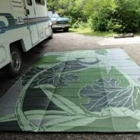 B. B. Begonia RV / Camping Mat, Blossom Green/Grey ...
