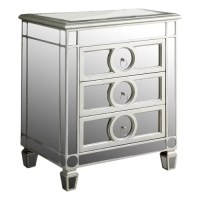 Monarch Specialties Inc. Mirrored 3 Drawer Accent Chest ...