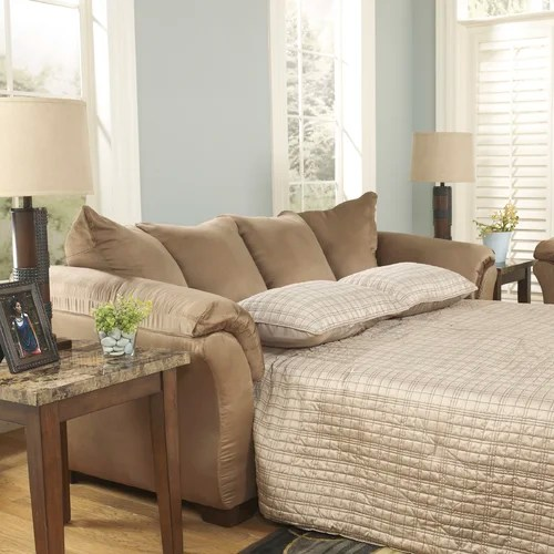 ashley harvest sleeper sofa high end throws signature design by & reviews ...