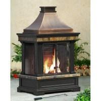 Sunjoy Brownston Steel Wood Outdoor Fireplace & Reviews ...