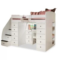 Berg Sierra Twin Space Saver Loft Bed with Desk and ...