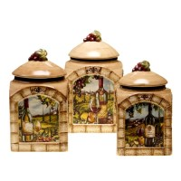 Certified International Tuscan View 3 Piece Canister Set ...