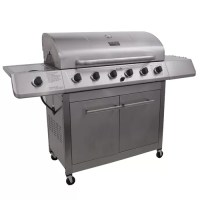 Classic Gas Grill with Side Burner and Storage Cabinet ...