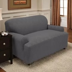 Sure Fit Stretch Stripe 2 Piece Sofa Slipcover Sand Small Double Bed Uk Two T-cushion   Wayfair