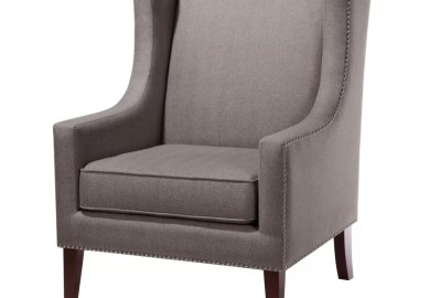 Gray Wingback Chair Ebay