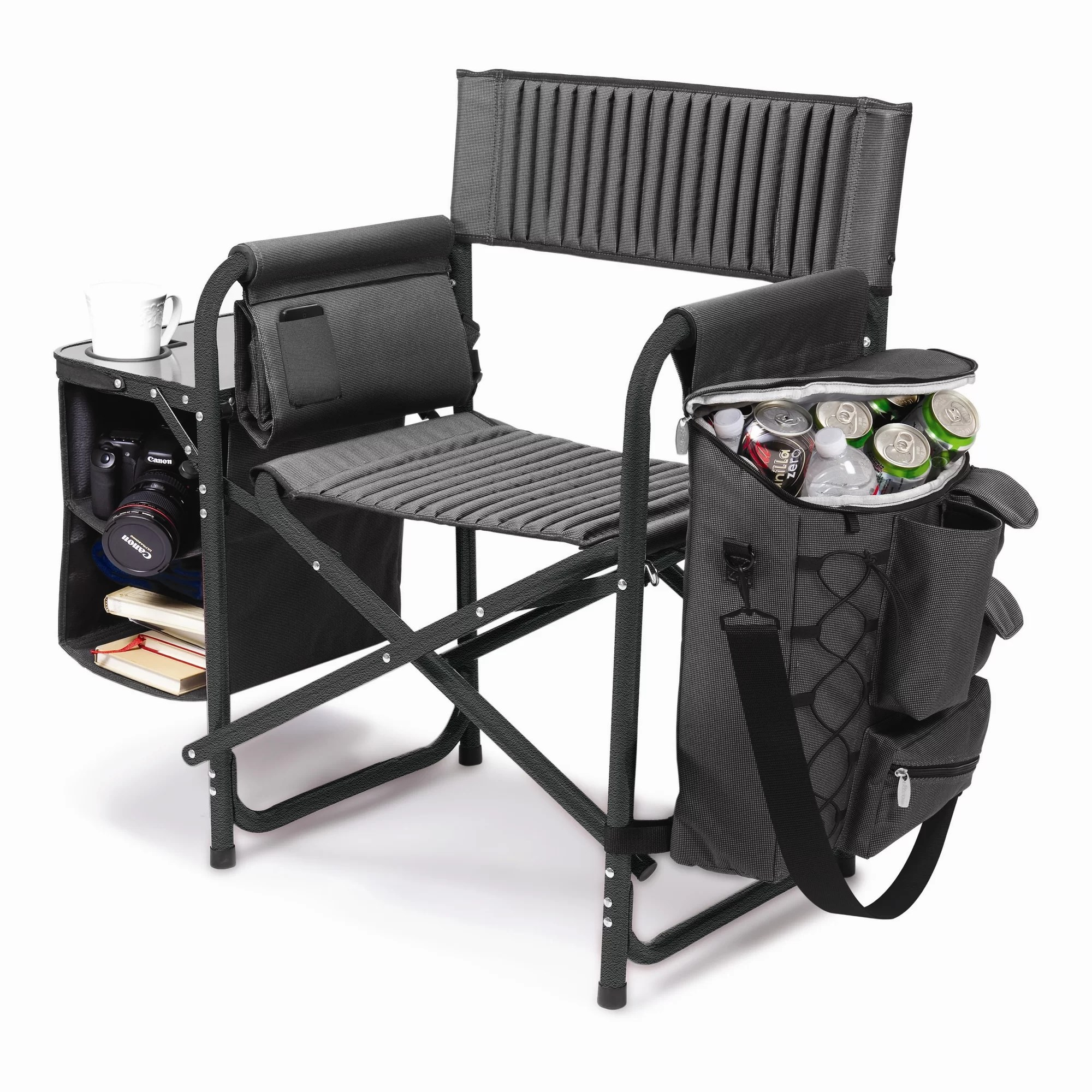 folding chair with cooler dining slipcovers diy lazy budget chef top 23 tailgating supplies for the