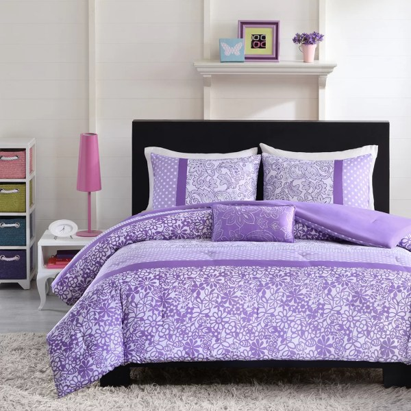 Purple Twin Comforter Set