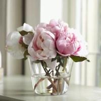 Birch Lane Faux Pink Peony Arrangement, Small | Birch Lane